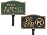 Keep Dog Off Grass Plaques