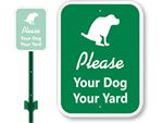 LawnBoss™ Dog Leash Signs
