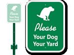 LawnBoss® Dog Leash Signs