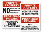Bilingual Property Signs