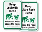 Scoop the Poop Signs by City