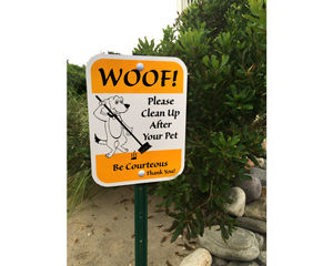 Woof Please Clean Up After Your Pet Sign