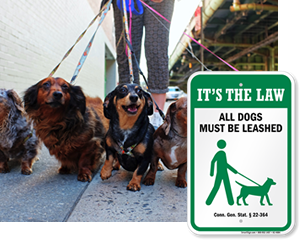 Dog Leash Signs By State