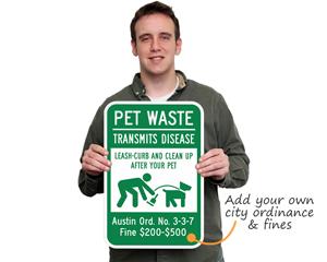Custom Dog Poop Signs