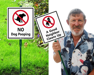 LawnBoss™ Dog Poop Signs - Stake & Kit Included!