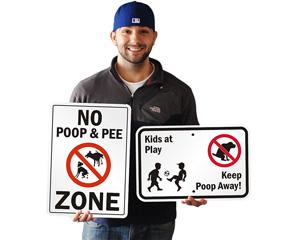 No dog poop signage