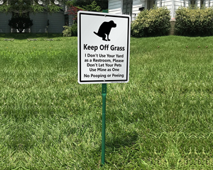 Keep Off Grass Funny Dog Poop Signs