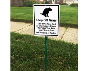 LawnBoss® Dog Poop Sign