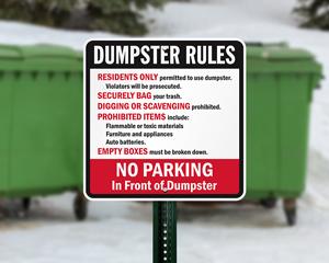 Dumpster Sign