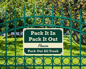 Pine Crest™ Campground Sign