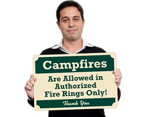 Pine Crest™ Campground Signs