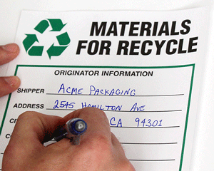 Recyclable Waste Signs & Labels