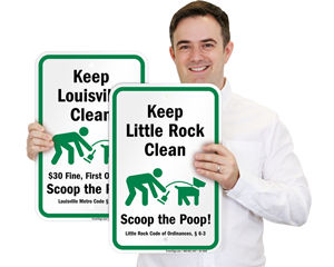 Scoop the Poop Signs by City