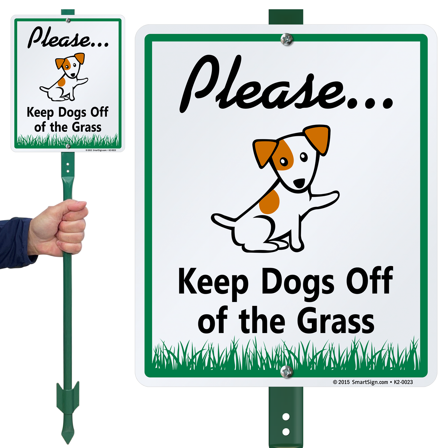 Keep Dogs Of The Grass Lawnboss Sign Kit