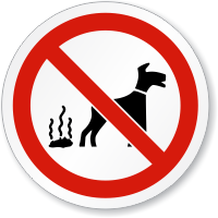 No Dog Fouling ISO Sign