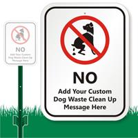 Custom Dog Poop Sign