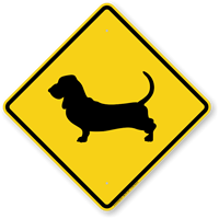 Basset Hound Symbol Guard Dog Sign