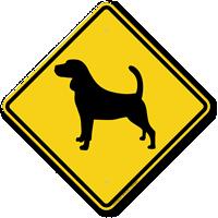 Beagle Symbol Guard Dog Sign