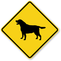 Black Lab Symbol Guard Dog Sign