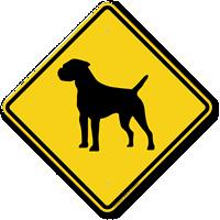 Border Terrier Symbol Guard Dog Sign