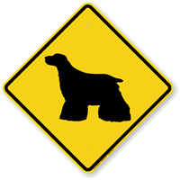 Cocker Spaniel Symbol Guard Dog Sign