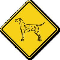 Dalmatian Symbol Guard Dog Sign