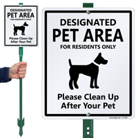 Clean Up After Your Pet with Graphic Sign