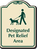 Designated Pet Relief Area Sign