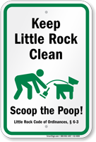Dog Poop Sign For Arkansas