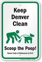 Dog Poop Sign For Colorado
