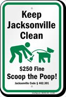 Dog Poop Sign For Florida