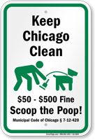 Dog Poop Sign For Illinois