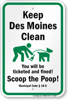 Dog Poop Sign For Iowa
