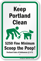 Dog Poop Sign For Maine