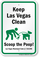 Dog Poop Sign For Nevada