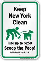 Dog Poop Sign For New York