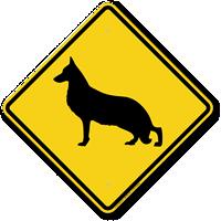 German Shepherd Symbol Guard Dog Sign