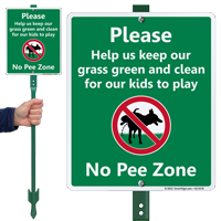Please Help Keep Grass Clean Kids Play Sign