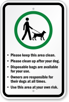 Keep This Area Clean Dog Poop Sign