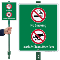 No Smoking Clean After Pets Sign