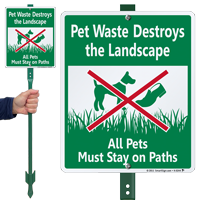 Pet Waste Destroys The Landscape Sign