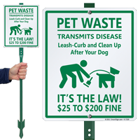 Pet Waste Transmits Disease with Graphic Sign
