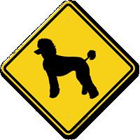 Poodle Symbol Guard Dog Sign