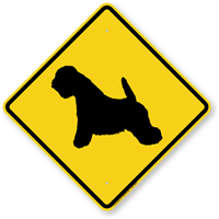 White Terrier Symbol Guard Dog Sign