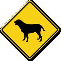 Yellow Lab Symbol Guard Dog Sign