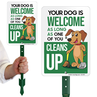 Your Dog Is Welcome As Long One of You Cleans Up