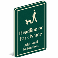Add Custom Headline Or Park Name PermaCarve Sign