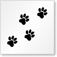 Dog Paw Prints Symbol Floor Stencil