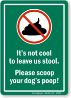Please Scoop No Dog Poop Sign