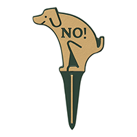 No Poop Dog Silhouette Gardenboss Petite Lawn Stake Sign